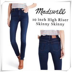 "Madewell | 10"" High Riser Skinny Skinny Size 28"